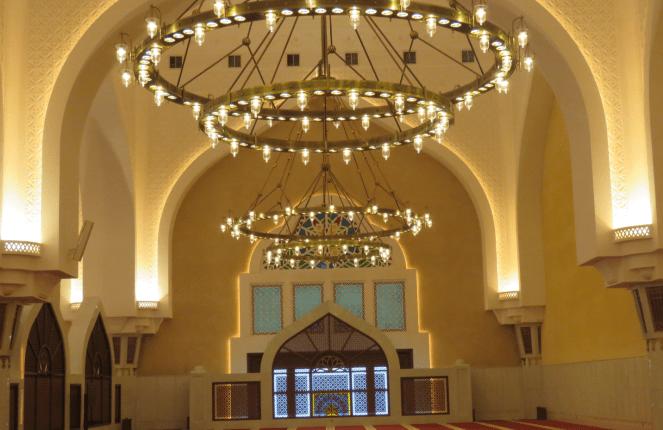 Interiors of the Imam Muhammad ibn Abd al-Wahhab Mosque in Doha