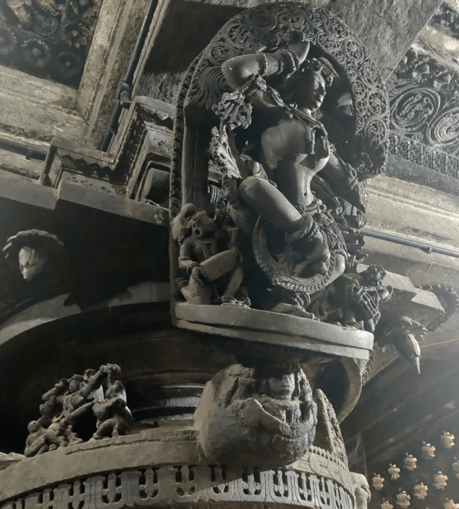 Carvings on the interior panel