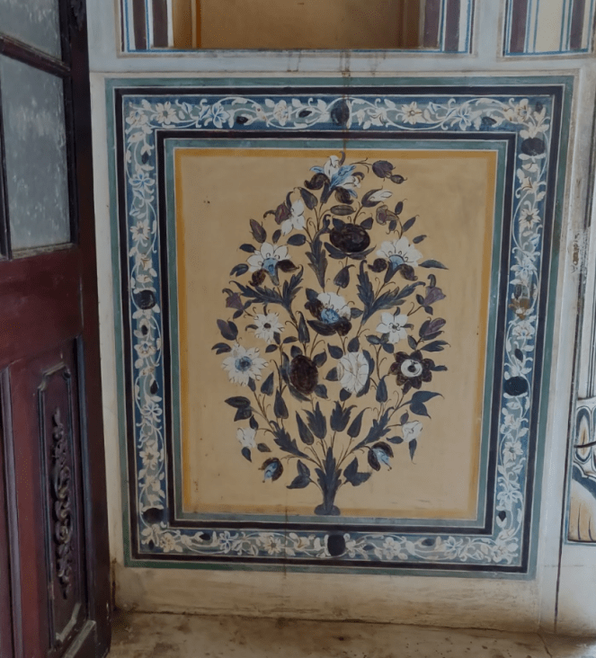 Paintings inside Nahargarh fort, Jaipur