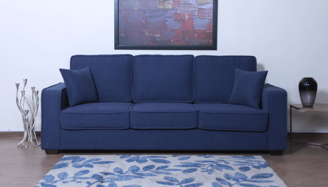 Classic blue sofa: Pic courtesy Pepperfry