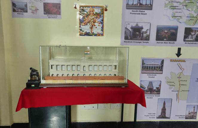 Artefacts in Puducherry museum