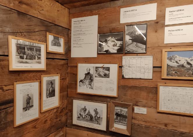 Inside the Matterhorn museum in Zermatt