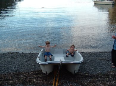 Two little dinghies