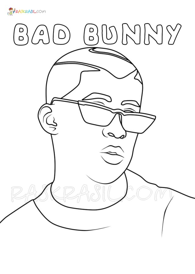 Bad Bunny Coloring Pages  New Free Coloring Pages