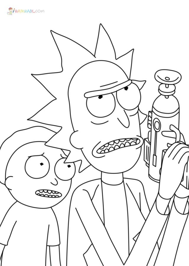 Rick and Morty Coloring Pages  17 Intergalactic Pictures Free