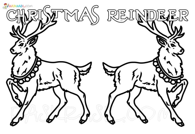 Christmas Reindeer Coloring Pages. 21 New Images Free Printable