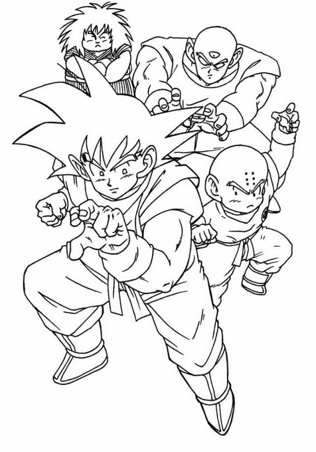 Dragon Ball Z Coloring Pages  28 images Free Printable