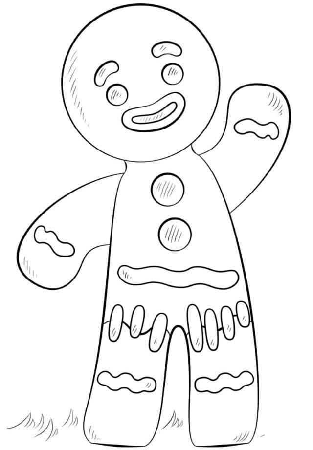Gingerbread Man Coloring Pages 70 New Images Free Printable