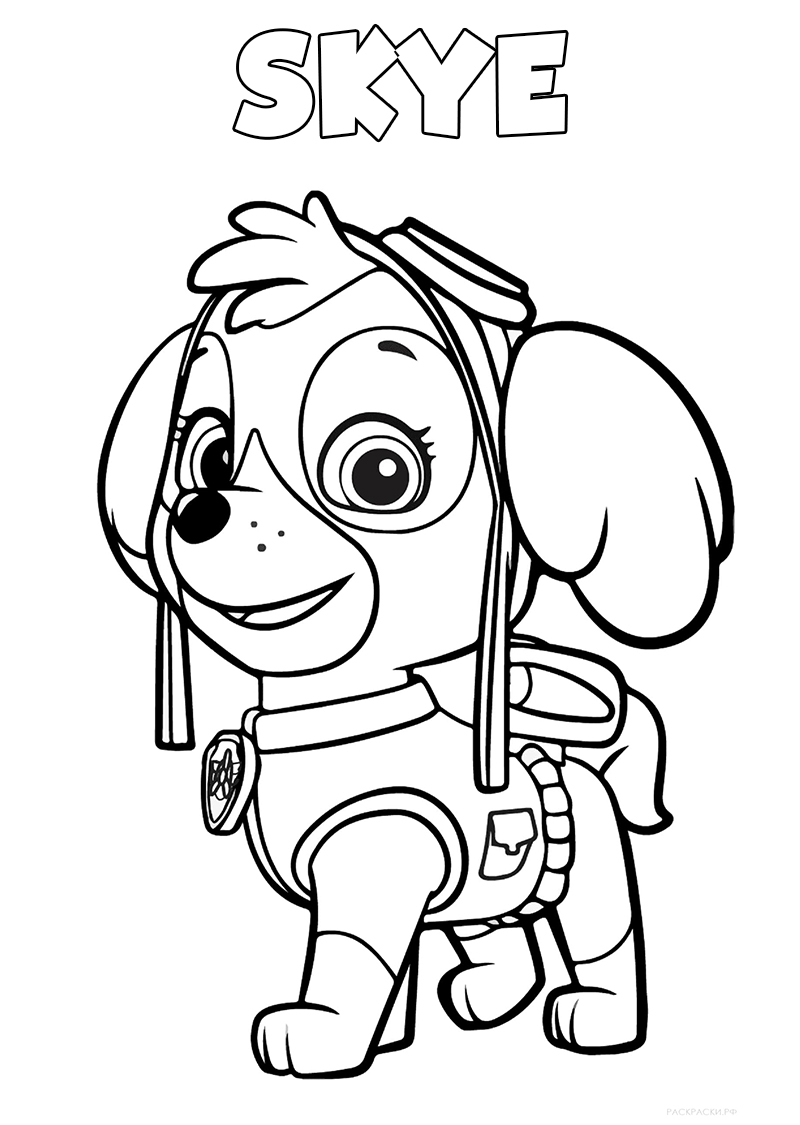 Paw Patrol Free Printable Coloring Pages For Kids : Paw