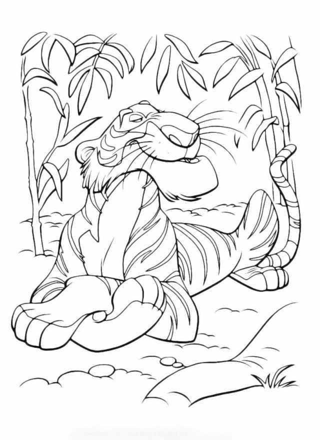 Ausmalbilder Dschungelbuch  21 Malvorlagen zum Ausdrucken