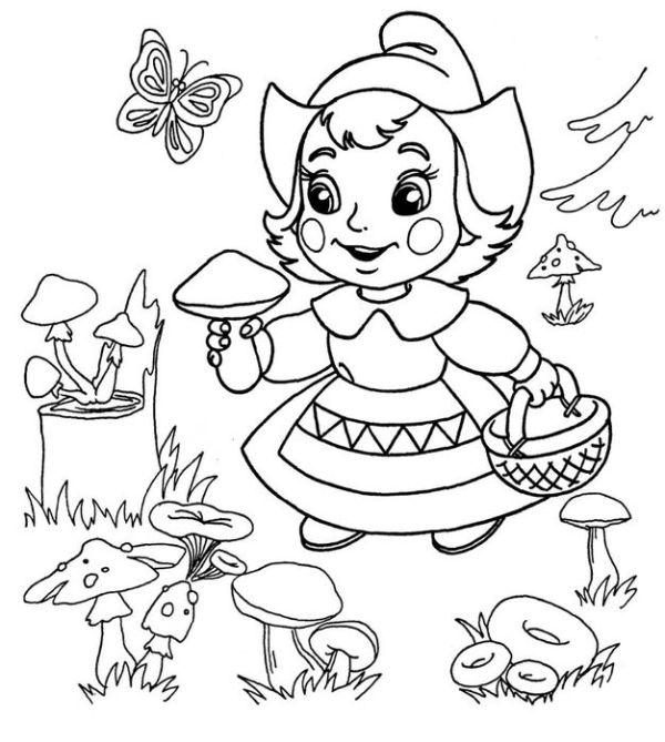Картинки-раскраски для детей для детского сада. Более 100 ...