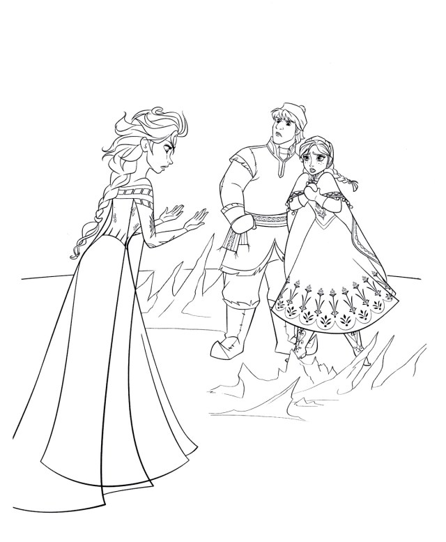 Coloring pages Elsa. Print for free for children, 19 pictures