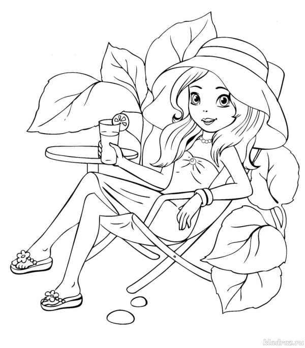 Раскраски для девочек 5 лет Распечатайте бесплатно