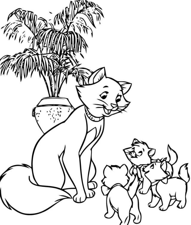 Coloriage de chats. Imprimez gratuitement 21 images en noir et blanc