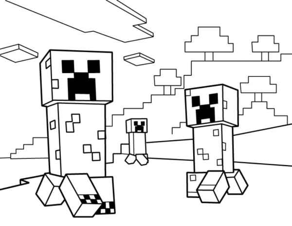 minecraft coloring pages to print # 6
