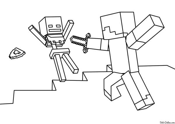minecraft printables coloring pages # 53