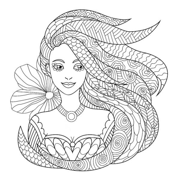 Сложные раскраски для девочек 10-12 лет. Распечатайте онлайн!