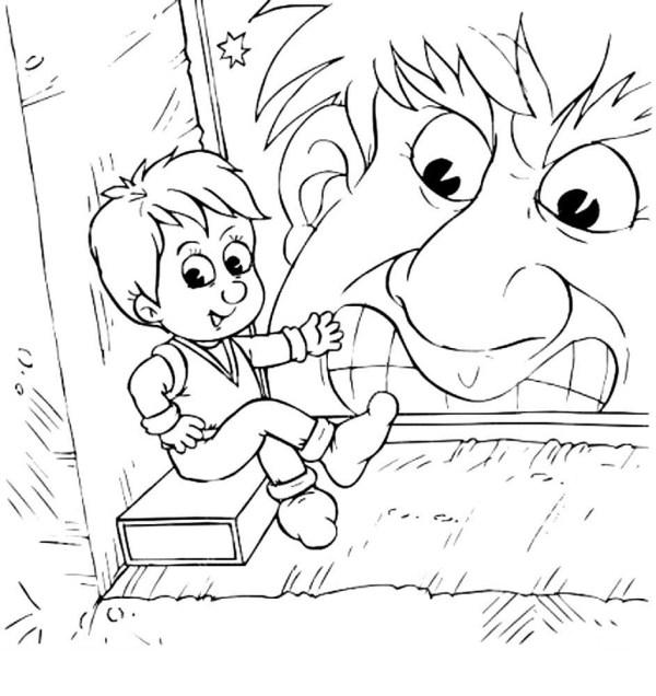 Раскраска Мальчик с пальчик скачать и распечатать