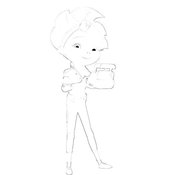 Раскраска героев из мультфильма Алиса знает что делать ...