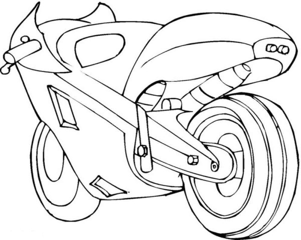 Скачать и распечатать раскраски мотоцикл