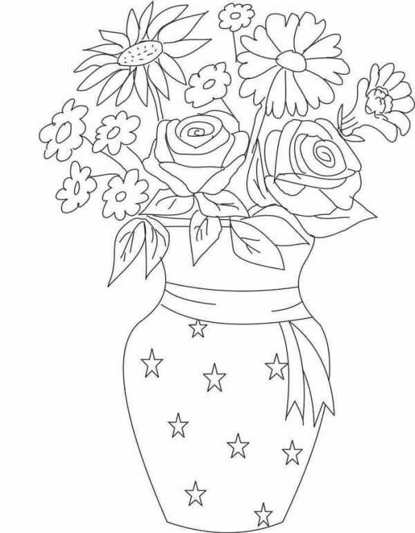 Раскраска цветы скачать и распечатать