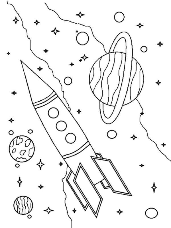 Раскраски День Космонавтики. Скачать или распечатать ...