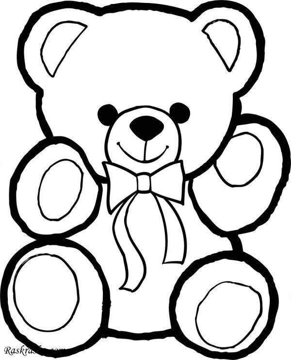 Раскраска Мишки Тедди для детей | Раскраски мишки тедди ...