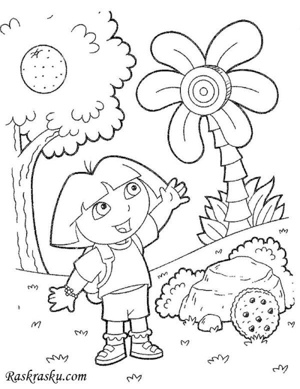 Раскраска Девочка познавательное Раскраски природа для
