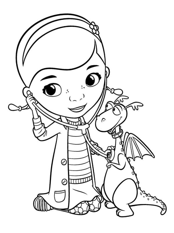 Доктор Плюшева картинки для разукрашивания и детского