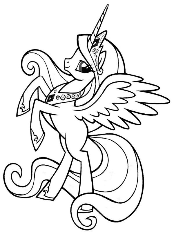 Онлайн раскраски с персонажами мульта Моя маленькая пони ...