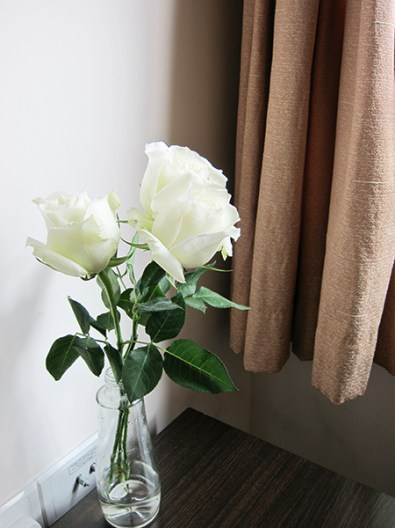 White roses from Blueberry for our anniversary..