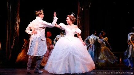 Prince and Cinderella at ball