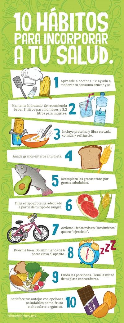 10 hábitos saludables para la salud