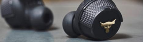 Dwayne Johnson presenta los audífonos internos e inalábricos de alto rendimiento para su Project Rock Line con Under Armour