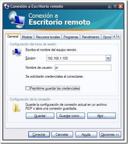 xrdp escritorio_remoto_raspberry_2