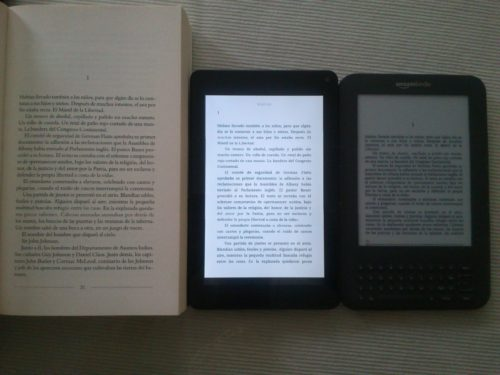 papel vs bq maxwell 2 plus vs kindle