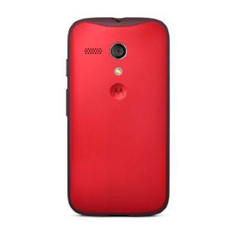 Motorola Grip Shell - Funda Oficial para Motorola Moto G (con marco de goma), rojo de Motorola