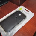 Motorola Grip Shell - Funda Oficial para Motorola Moto G (con marco de goma)