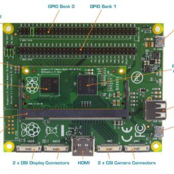 Raspbery pi + Board detalle