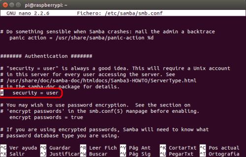 optimizar SAMBA  NAS o servidor casero en la Raspberry Pi 03