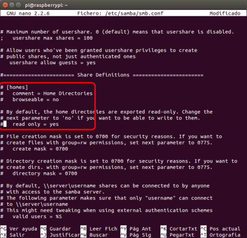 optimizar SAMBA  NAS o servidor casero en la Raspberry Pi 06