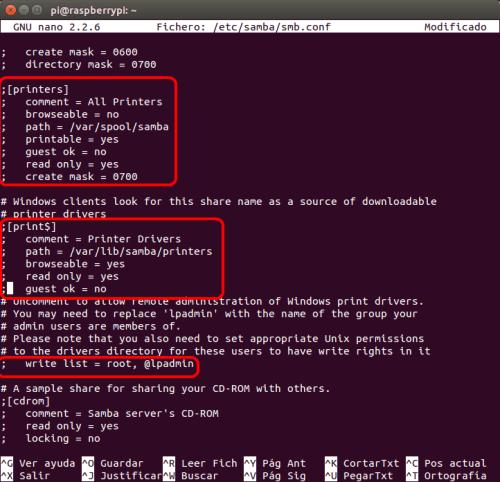 optimizar SAMBA  NAS o servidor casero en la Raspberry Pi 08