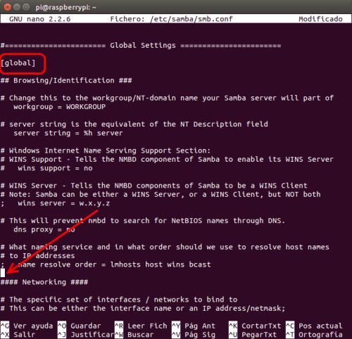 optimizar SAMBA  NAS o servidor casero en la Raspberry Pi 09