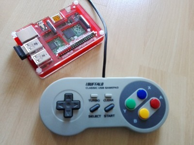 Buffalo Classic mando USB compatible Raspberry Pi b