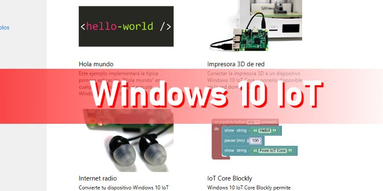 Volviendo a Windows 10 IoT