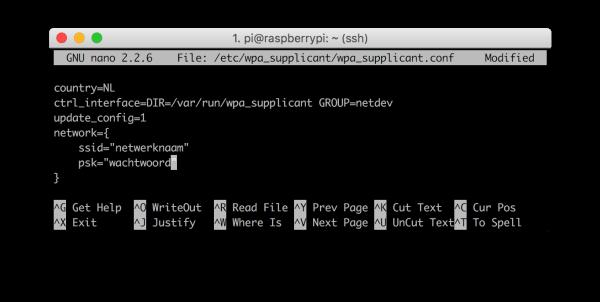 raspberry Pi wifi config