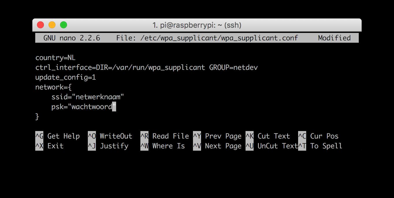 Raspberry Pi Aanmelden Op Een Wifi Netwerk