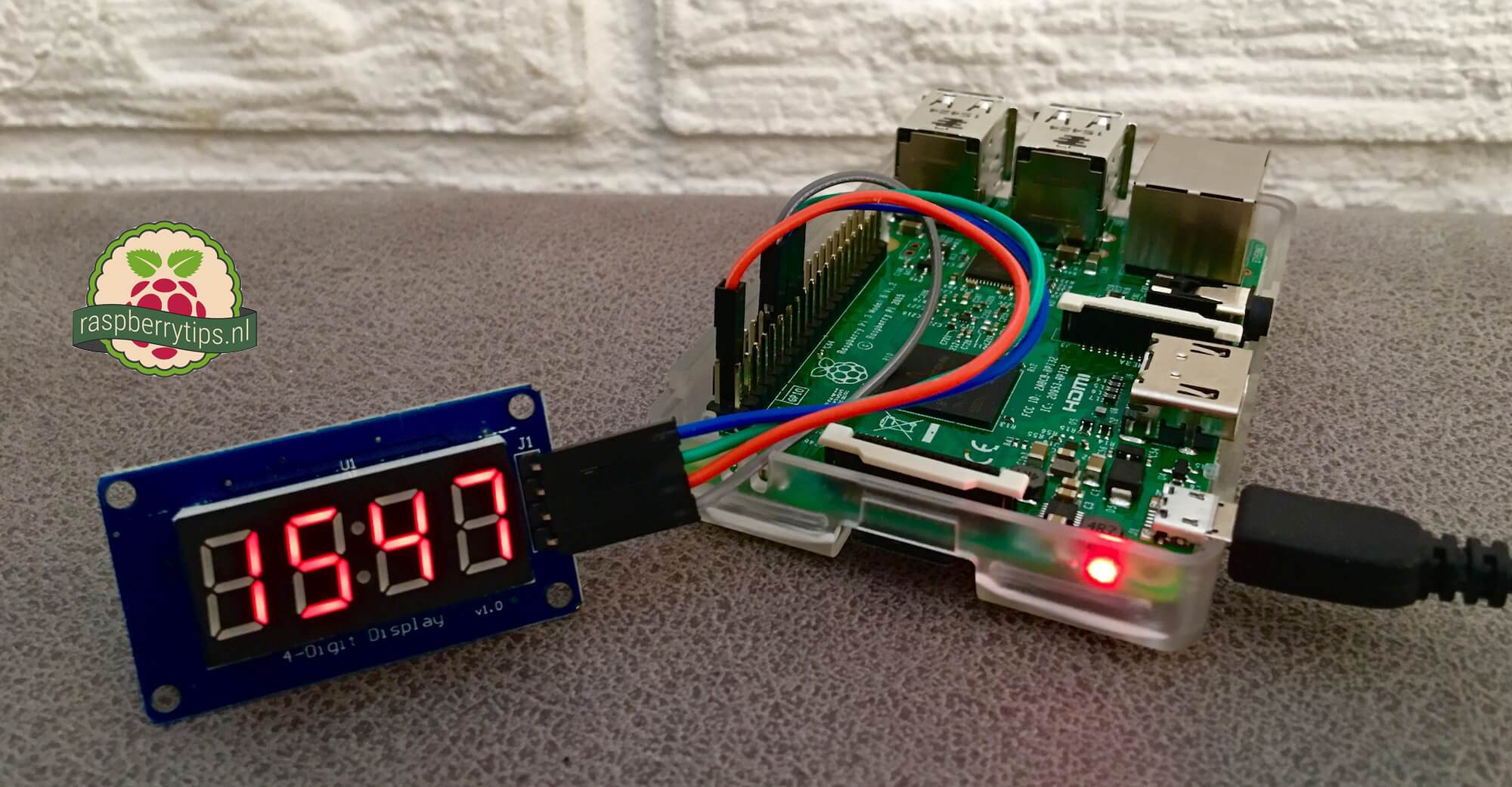 TM1637 LED display aansturen met een Raspberry Pi