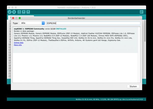 bewegingssensor homekit arduino  esp8266