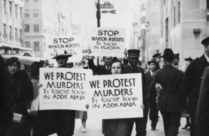 Protest in Harlem in support of Ethiopia